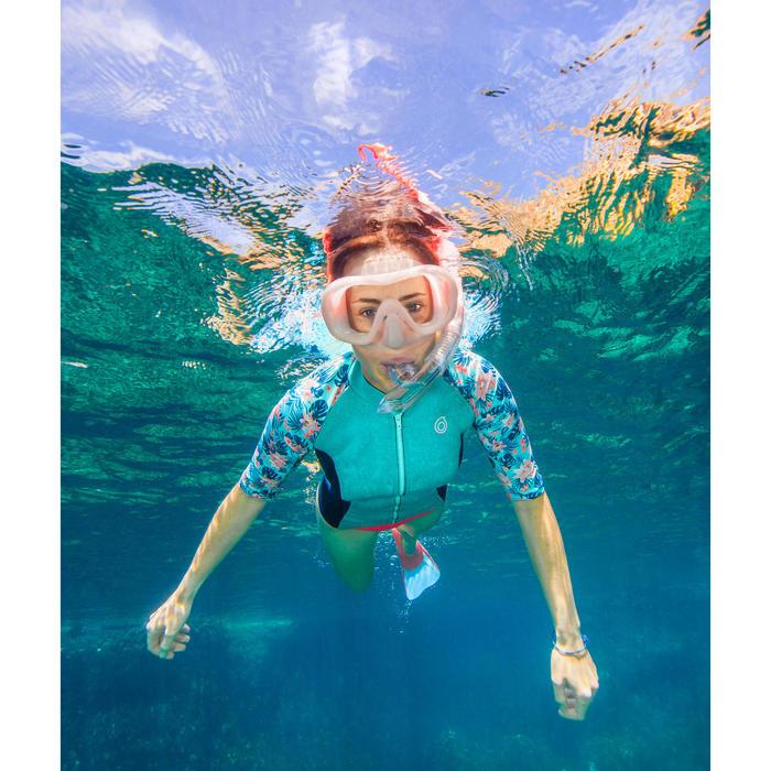 Top néoprène 500 Manches courtes Femme turquoise