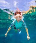 ŠNORCHLOVÁNÍ TOPY Potápění a šnorchlování - NEOPRENOVÝ TOP 500 TYRKYSOVÝ SUBEA - Šnorchlování