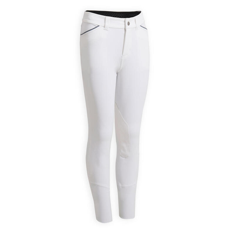 Pantalon concours équitation enfant BR 500 blanc