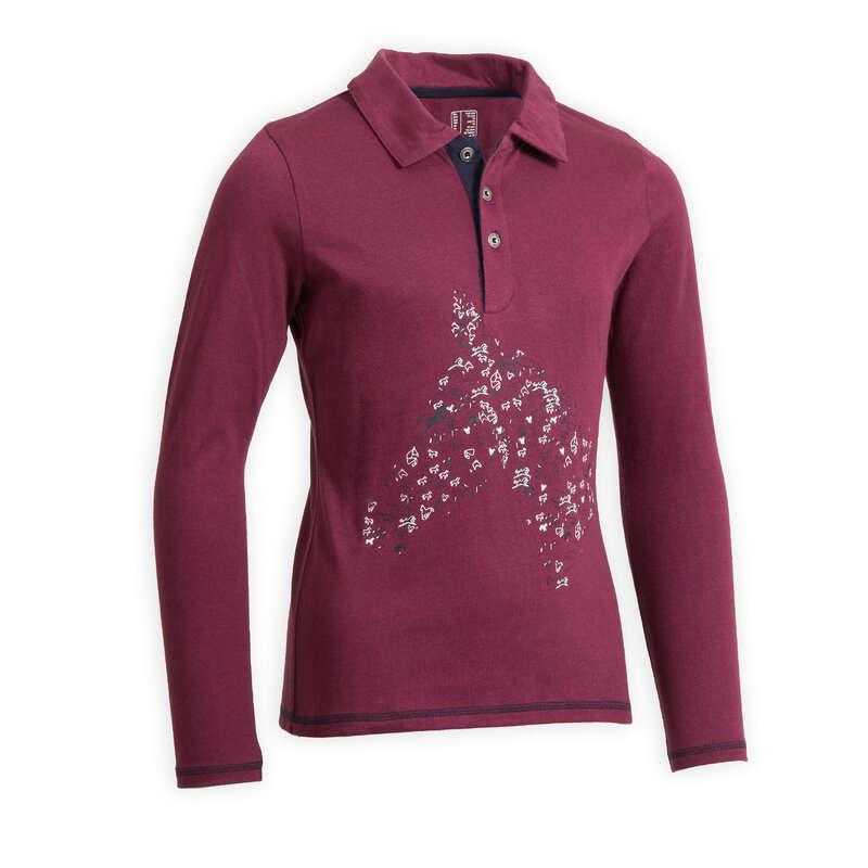 Îmbrăcăminte echitație copii Imbracaminte - Bluză Echitație 100 Fete FOUGANZA - Imbracaminte