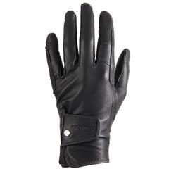 Gants équitation cuir femme 900 limited noir