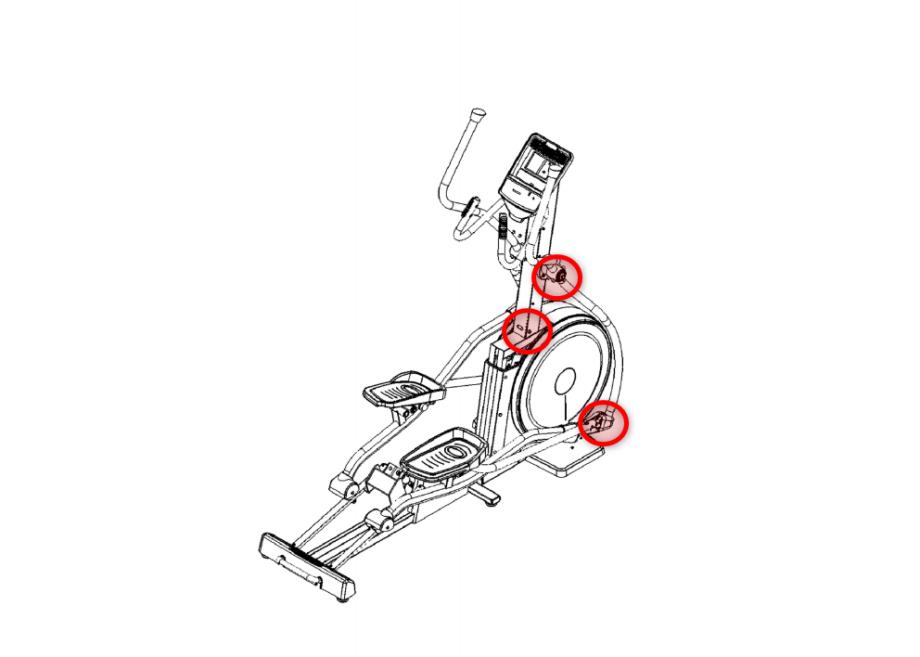 Sitz der Schrauben kontrollieren EL900