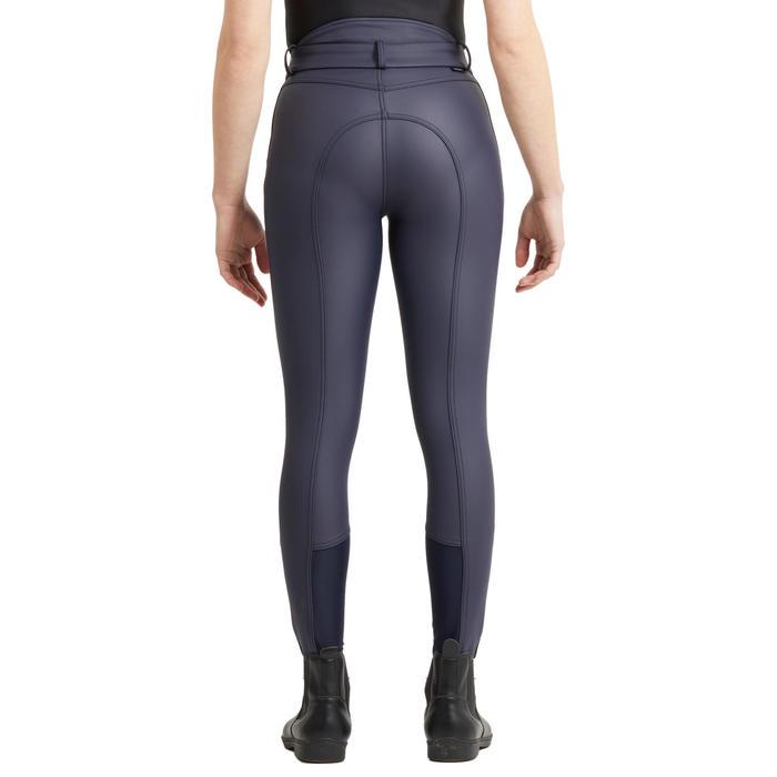Pantalon chaud et déperlant équitation enfant KIPWARM bleu marine