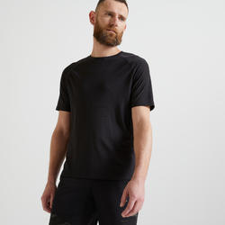 T-shirt voor cardiofitness heren FTS 900 zwart