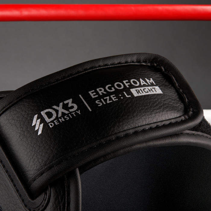 成人款自由搏擊/泰拳用脛骨/足部護具900-黑色。