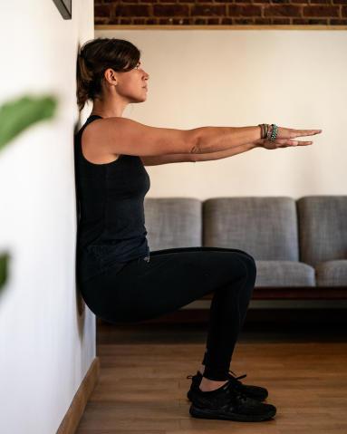 Exercice golf - chaise - gainage - decathlon