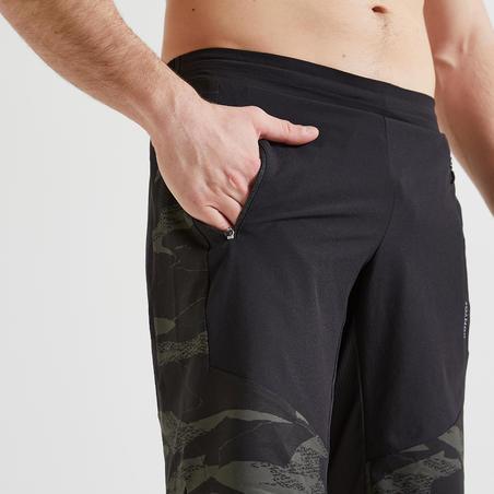 Men's Fitness Cardio Training Eco-Friendly Shorts FST 500 - Black Camo