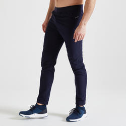 Men's Slim Fit Fitness Bottoms 500 - Navy Blue