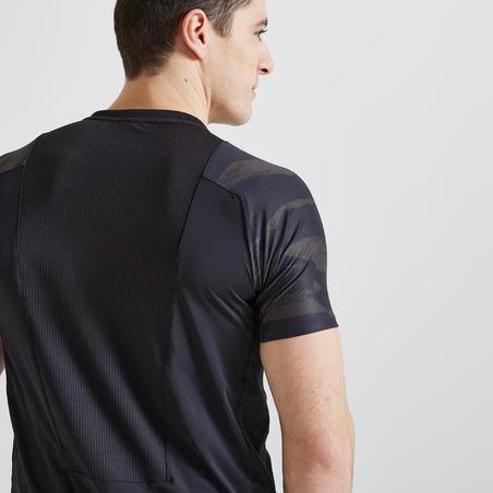 Men's Fitness Cardio Training T-Shirt 500 - Black/Khaki/Camo