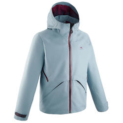 Children's waterproof hiking jacket - MH550 - blue