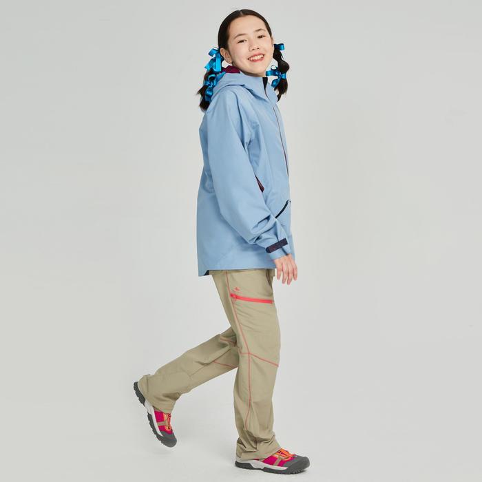 兒童款防水健行外套MH550-藍色