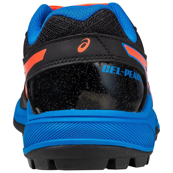 Hockeyschoenen voor tieners hoge intensiteit Gel Peak zwart/oranje