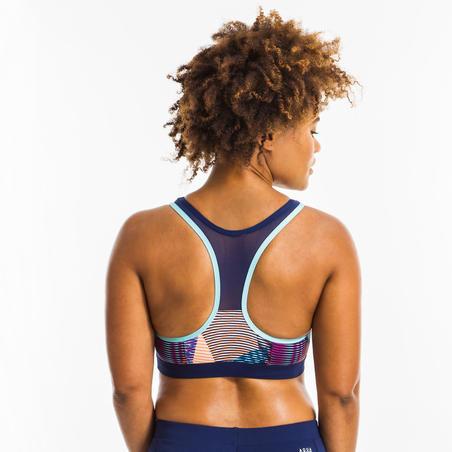 Women's Aquafitness Swimsuit Top - Lou Vib White