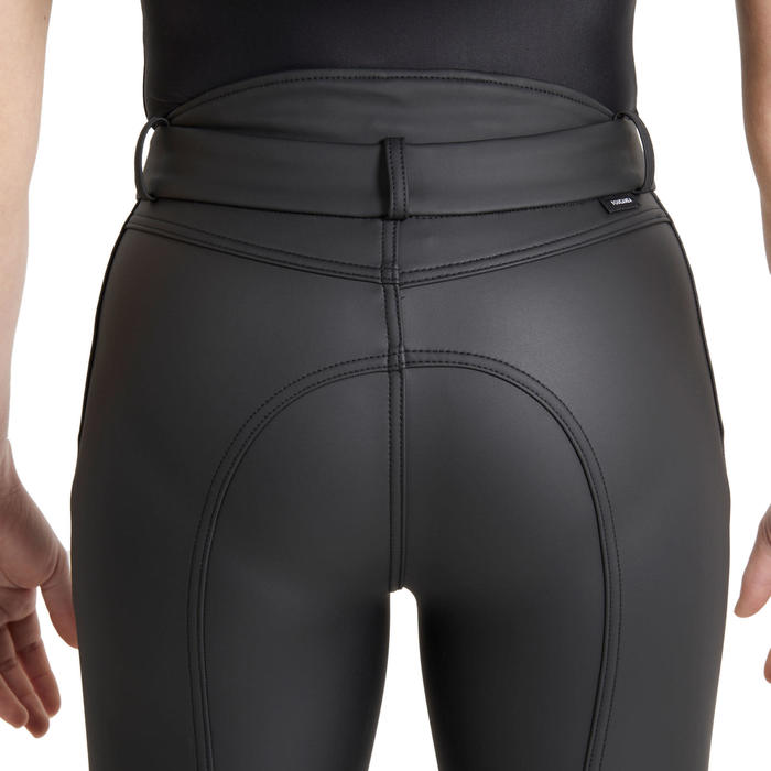 Pantalon chaud et déperlant équitation enfant KIPWARM noir