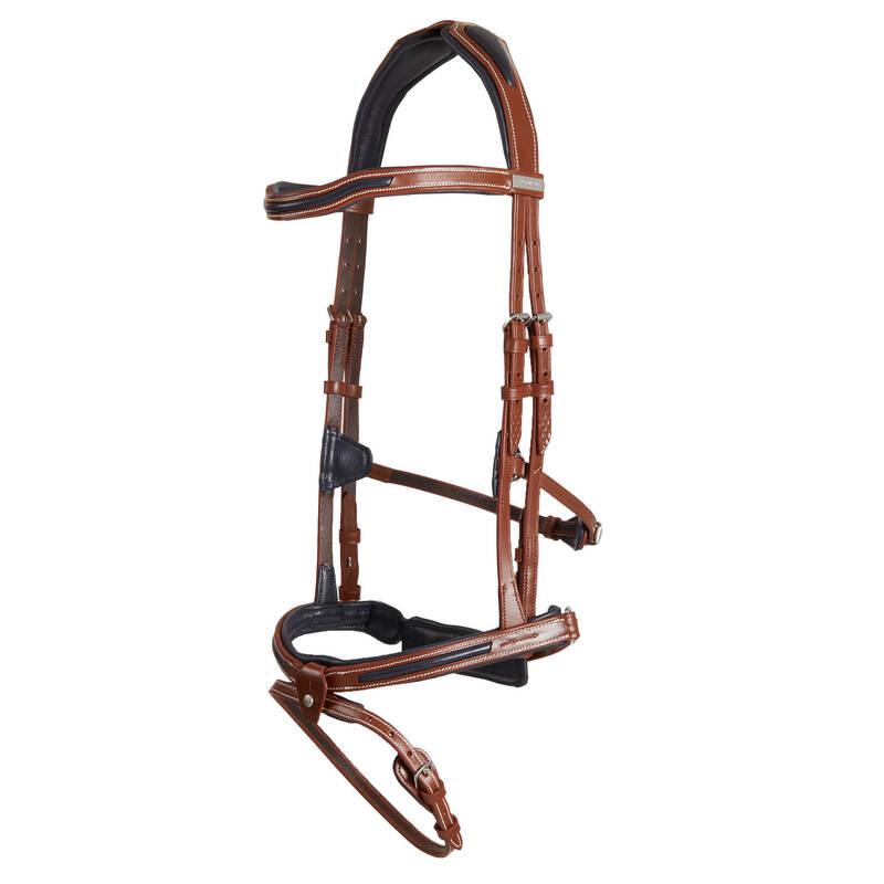 UZDĚNÍ Jezdectví - UZDEČKA JUMPING 900 HNĚDÁ FOUGANZA - Vybavení pro koně