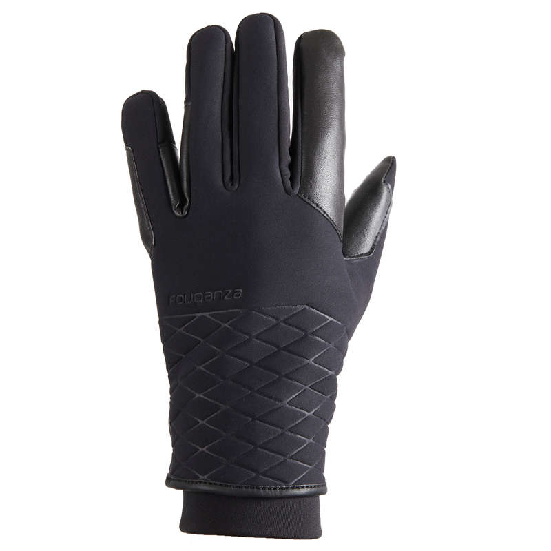 COLD WEATHER RIDNG GLOVES - DÁMSKÉ RUKAVICE 900 WARM ČERNÉ FOUGANZA