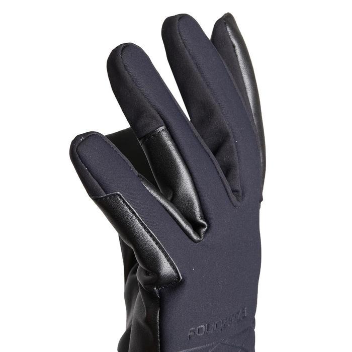 Gants chauds et imperméables d'équitation femme 900 WARM noir