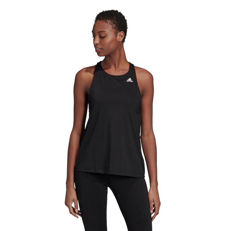 Top voor fitness dames Aeroready zwart