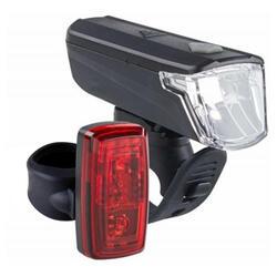 電池供電式LED前後照明自行車燈組ST 110