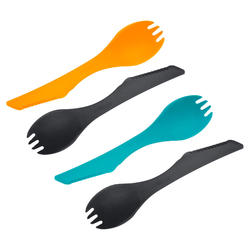 Set of 4 spork integrated all-in-one trekking