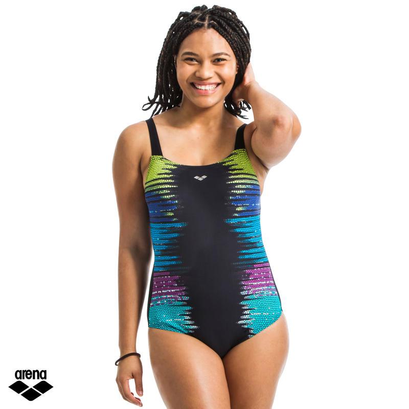 Women's One-piece swimsuit Aquafitness Naomi Wing Back black