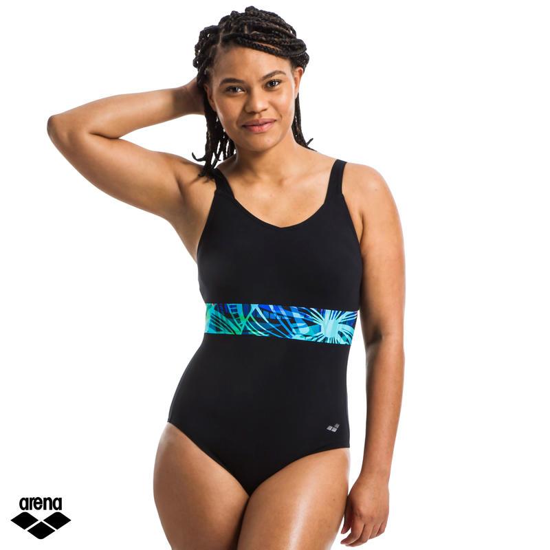 Women's One-piece swimsuit Aquafitness Hina Wing Back black