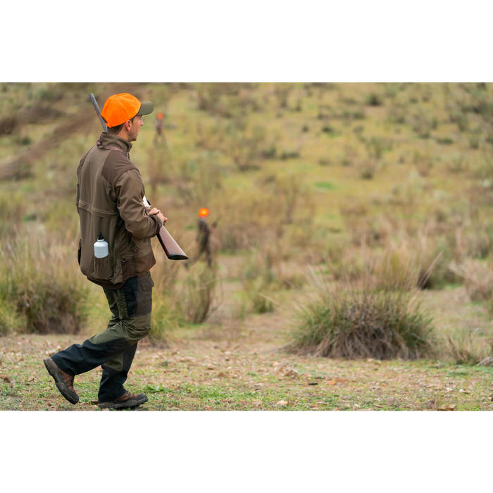 Ademende jagersjas met verwijderbare mouwen 900 groen en bruin