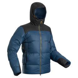 Donsjas voor bergtrekking heren comfort -18°C Trek 900 blauw