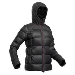 Daunenjacke Trek 900 mit Kapuze Komfort bis -18 °C Damen schwarz