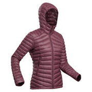 Women's Mountain Trekking Down Jacket - TREK 100 - Bordeaux