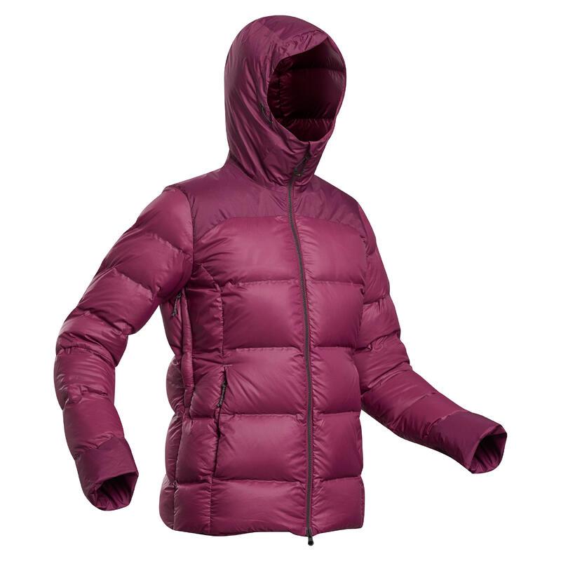 Donsjas voor bergtrekking dames Trek 900 -18°C paars