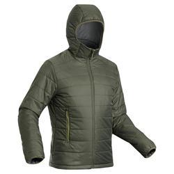 Doudoune en ouate de trek montagne - confort -5°C - TREK 100 capuche kaki homme