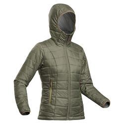 Doudoune synthétique capuche de trek montagne - Trek 100 -5°C - Kaki Femme