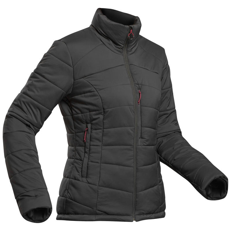Women's Mountain Trekking Padded Jacket - Comfort -10° - TREK 500 Black