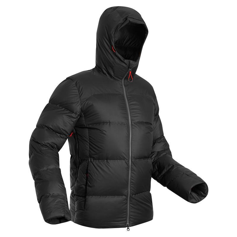 เสื้อแจ็คเก็ตดาวน์สำหรับผู้ชายใส่เทรคกิ้งบนภูเขารุ่น Trek 900 พิกัดอุณหภูมิสบาย -18°C (สีดำ)