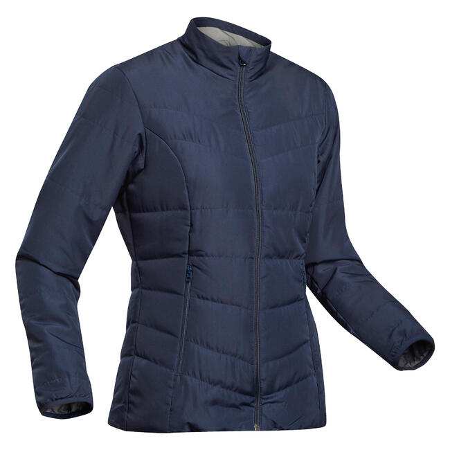 Women's Mountain Trekking Padded Jacket Trek 50 - navy