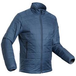 Gewatteerde jas voor bergtrekking heren comfort -5°C Trek 100 blauw