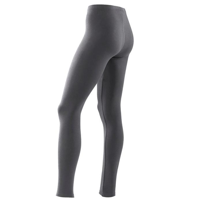 Legging voor gym meisjes 100 grijs