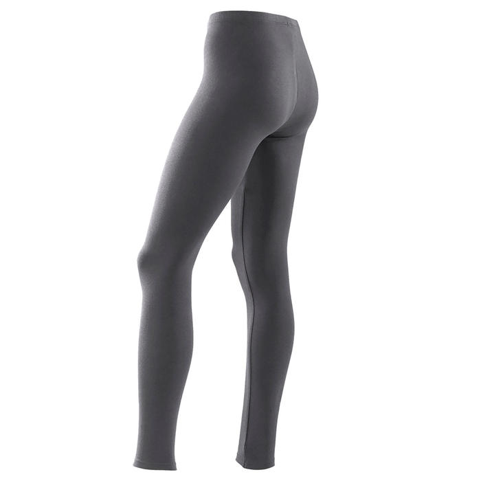 Leggings 100 Gym Mädchen grau