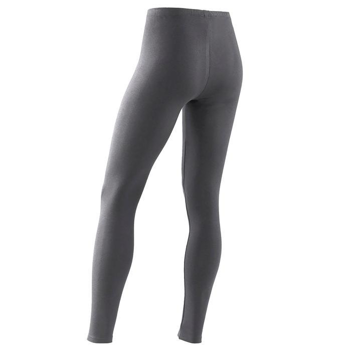 Legging fille coton - Basique gris