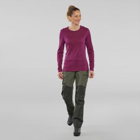 Trek 500 Merino Wool Round Neck T-Shirt - Women