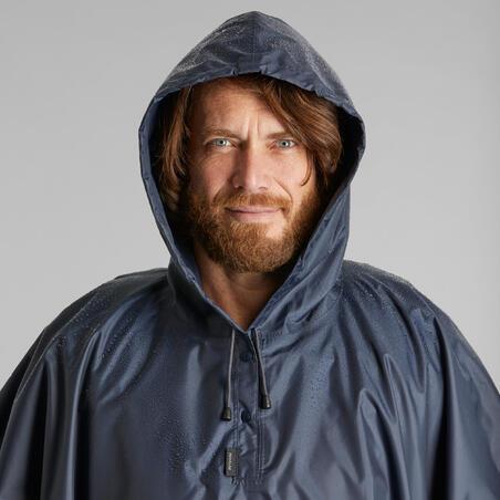 """Turistinis apsiaustas nuo lietaus """"Trek 100"""", mėlynas"""