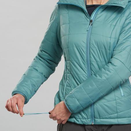 Пуховик жіночий Trek 100 для гірського трекінгу - Бірюзовий