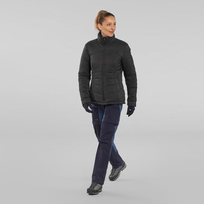 Doudoune en ouate de trek montagne - confort -10°- TREK 500 Noir - Femme