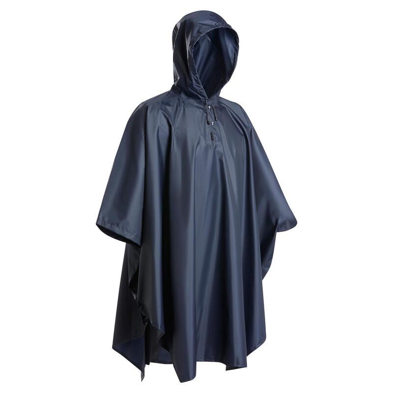 Poncho pluie de randonnée - TREK 100 bleu