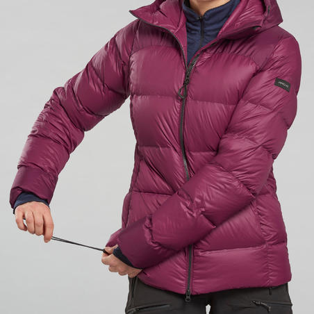 Women's Mountain Trekking Down Jacket - TREK 900 - Purple