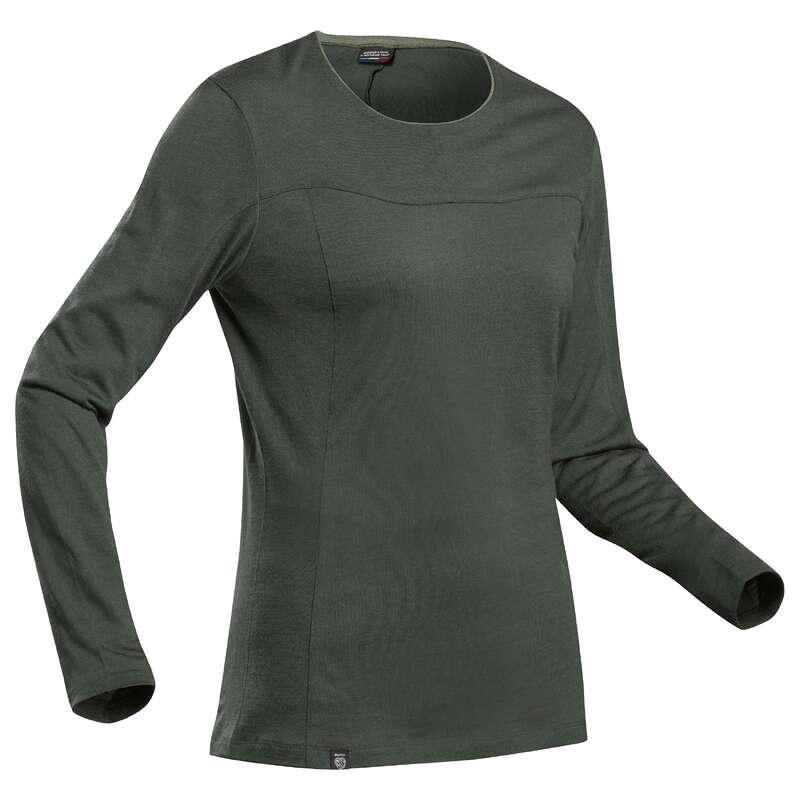 UTRUSTNING I MERINOULL FÖR TREKKING, DAM Dam - T-shirt MERINOS TREK 500 Dam FORCLAZ - Underkläder