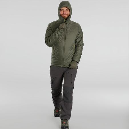 Trek 100 Mountain Trekking Padded Jacket with Hood -5°C - Men