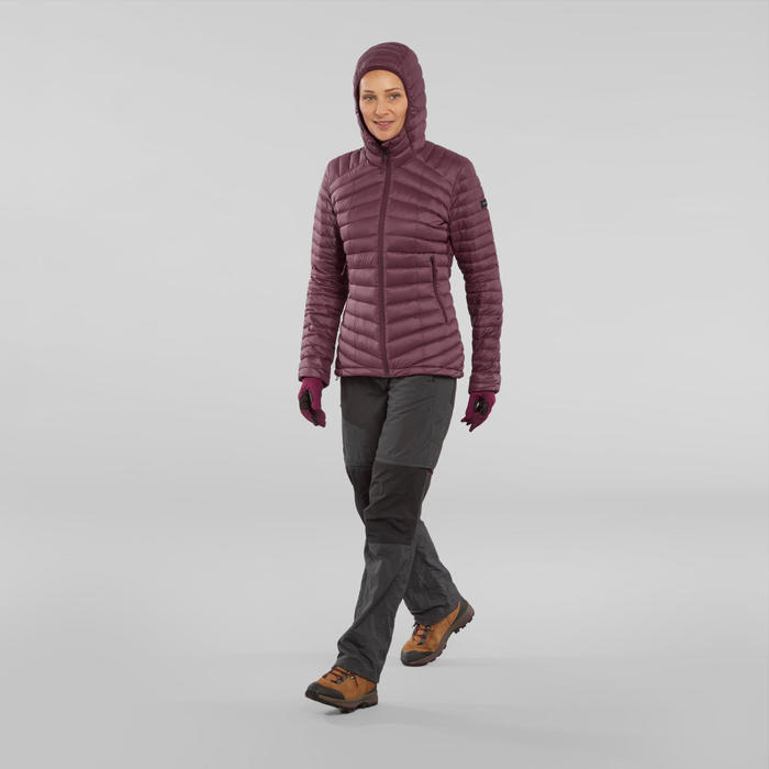 Gants de trek montagne respirants - TREK 500 violet - adulte