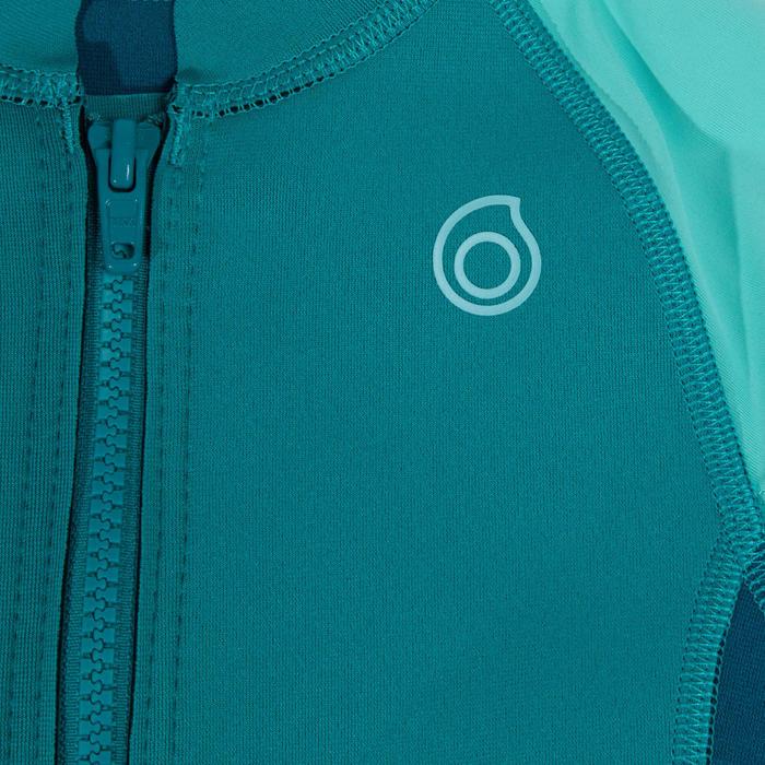 Top néoprène 500 junior manches longues turquoise